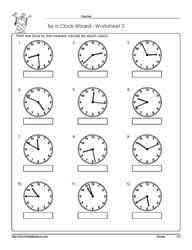 telling time to the nearest minute worksheets free worksheets