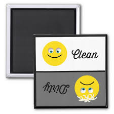 clean emoji emoji clean dirty dishwasher magnet zazzle com