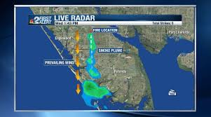 Map Of Fort Myers Florida by Weather Blog Where There U0027s Smoke There U0027s Fire Nbc 2 Com Wbbh