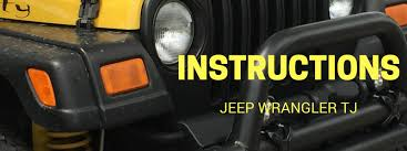 jeep instructions instruction library for jeep wrangler tj by vendor in pdf format