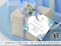 baptism favor tags instant baptism invitations