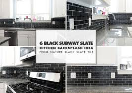backsplash for black and white kitchen black backsplash tile ideas projects photos backsplash