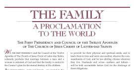 family proclamation the family a proclamation to the world towards a better understanding