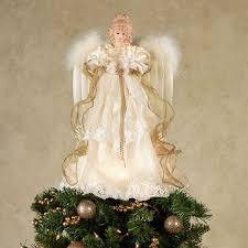 kurt adler majestic angel lighted tree topper