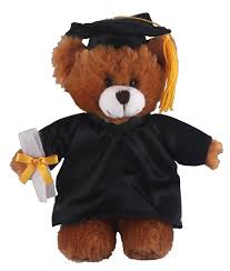 personalized graduation teddy with me plush mocha brown 8 in personalized black
