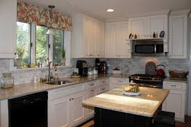 Microwave In Kitchen Cabinet by Kitchen Simple Kitchen Design Black And White Ceramic Backsplash