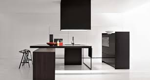 Architecture Excellent All Black Simple Kitchen At Modern And - Simple modern kitchen
