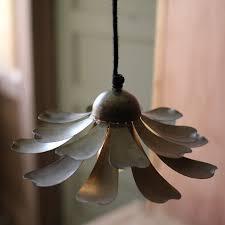 Flower Pendant Light Metal Flower Pendant Light Antique Farmhouse