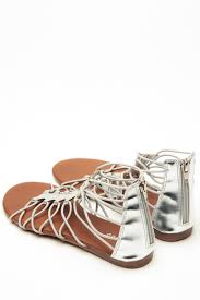 bamboo relaxed gladiator silver sandals cicihot sandals shoes