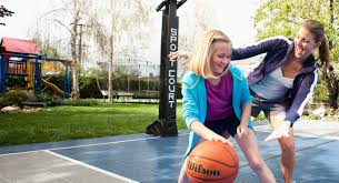 backyard basketball court gym flooring home tennis courts