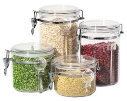 glass kitchen canister sets 4 pc acrylic canister set