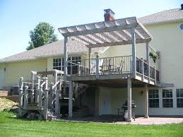 raised deck privacy ideas raised deck skirting ideas pergola on