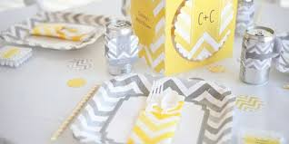 silver party favors chevron gray everyday party theme bigdotofhappiness