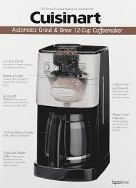 Coffee Blade Grinder Cuisinart Grind And Brew 12 Cup Automatic Coffeemaker Brushed