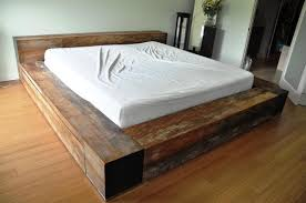 Make Wood Platform Bed by Natural Wood Platform Bed Http Www Woodesigner Net Offers