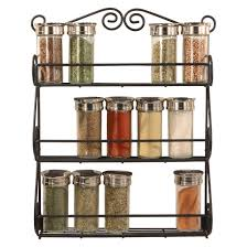 Spice Rack For Wall Mounting Spectrum Wall Mount Scroll Spice Rack Black Target