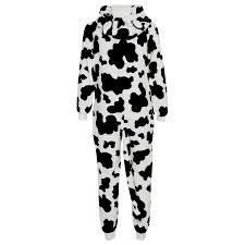 kids girls boys a2z onesie one piece soft fluffy cow halloween