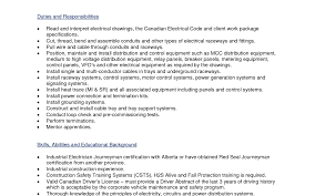 Canadian Resume Samples Rig Electrician Resume Cv Cover Letter