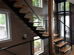 metal floating stairs u0026 straight stair photo gallery acadia stairs