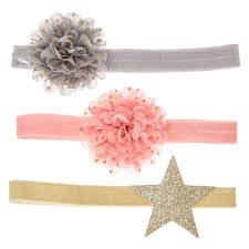 stretchy ribbon kids 3 pack stretchy chiffon flower and headbands s us