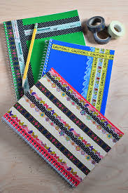 Notebook Cover Decoration If You Give A Notebook A Makeover With Washi Tape Rhea Lana U0027s