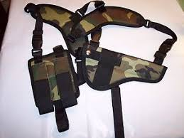xl rig camo horizontal shoulder holster browning buckmark camper
