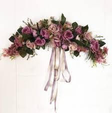 wedding flowers background new purple artificial flowers door lintel flower mirror