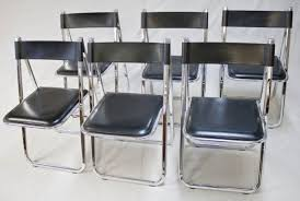 Folding Chair Leather Bid In Online Auctions Liveauctioneers