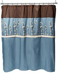 Lush Shower Curtains Triangle Home Fashions 19259 Lush Decor Cocoa Flower