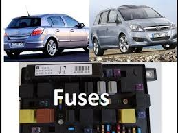 diagram of fuses opel vauxhall zafira b astra h fusebox uec
