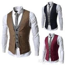 2018 fashion slim fit suit vest fashion stitching casual golf