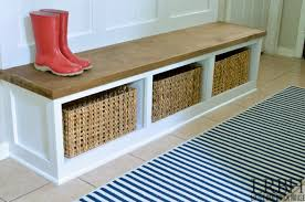 entryway bench with hooks and storage diy entryway bench diy entryway mudroom reveal
