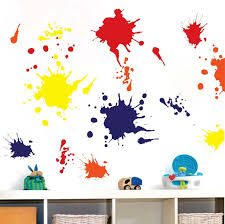 ink splash wall decals trendy wall designs