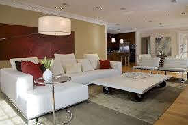 Furnitures  Bright Living Room With Orange Sofa And Modern - Interior design coffee tables
