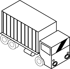 iso truck 3 black white line twitter coloring book colouring hunky