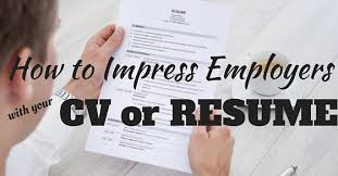 Cv Or Resume How To Impress Employers With Your Cv Or Resume 20 Tips Wisestep