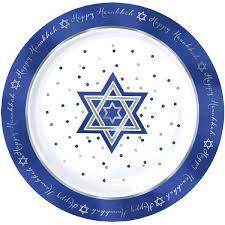 hanukkah plate hanukkah premium plastic dessert plates 20ct party