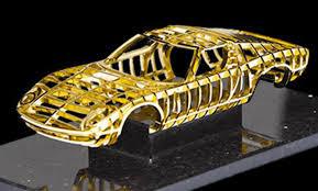 car lamborghini gold dante creates 24 carat gold lamborghini miura sculpture brimmed