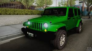 green jeep rubicon jeep wrangler unlimited rubicon 2013 for gta san andreas