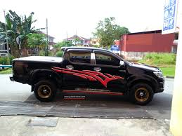 toyota custom toyota hilux custom stickers share my ride gk172 galeri kereta