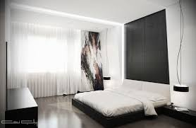 Black Panel Bed Small Contemporary Bedrooms Elegant Crystal Chandelier Matte Black