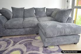 Grey DYLAN Jumbo Cord Fabric Sofas Settee  Left  Right  Fabric - Dylan sofa