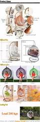white rattan hanging egg swing chair cheap outdoor wicker hanging