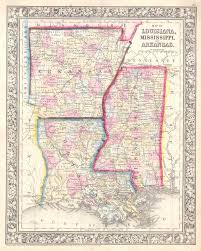 Maps Of Louisiana File 1864 Mitchell Map Of Louisiana Mississippi And Arkansas