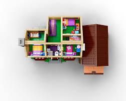 742 Evergreen Terrace Floor Plan The Lego Simpson U0027s House Is A Work Of Art