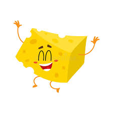 happiness character and cheese chunk character jumping from happiness stock