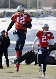 all on brady as he misses practice with injury