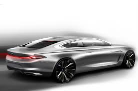 porsche concept sketch bmw partners with pininfarina to create gran lusso coupe