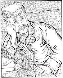 starry night coloring page ngbasic com