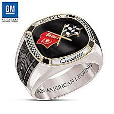 mens stainless steel rings corvette the legend stainless steel mens ring
